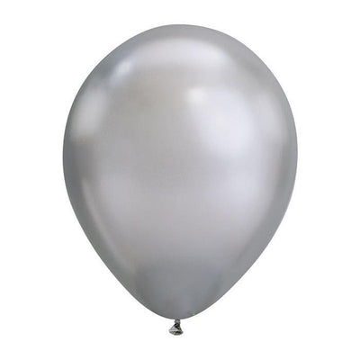 The Original Party Bag Company - Silver Chrome Balloons (Pk5) - chromesil- The Original Party Bag Company