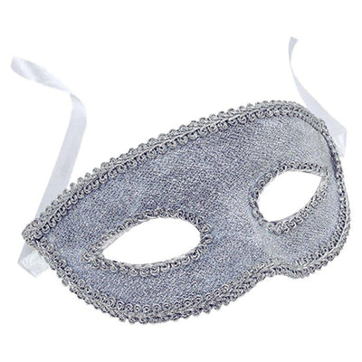 The Original Party Bag Company - Silver Masquerade Mask - MASK596- The Original Party Bag Company