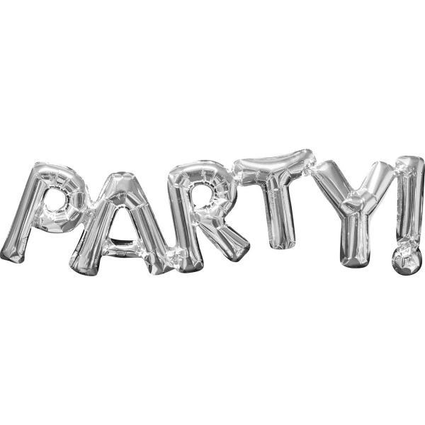 The Original Party Bag Company - Silver PARTY Balloon - 3309901- The Original Party Bag Company