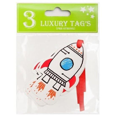 The Original Party Bag Company - Space Gift Tags (Pk3) - 177260- The Original Party Bag Company