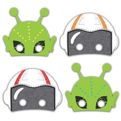 The Original Party Bag Company - Space Paper Masks (Pk8) - blasmask- The Original Party Bag Company