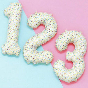 The Original Party Bag Company - Sprinkles Air Fill Number Balloons - airnumbersprinkles-01- The Original Party Bag Company