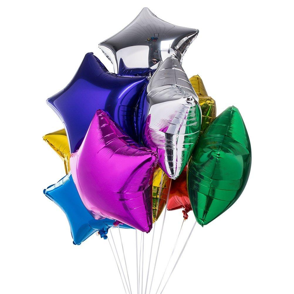 The Original Party Bag Company - Standard Star Foil Balloons (Choose Your Colour) - - The Original Party Bag Company