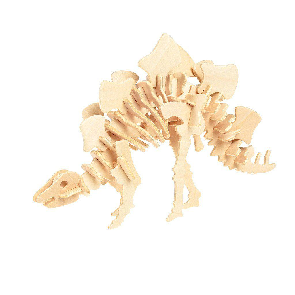 The Original Party Bag Company - Stegosaurus 3d Wooden Puzzle - 28270- The Original Party Bag Company