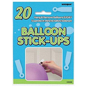 The Original Party Bag Company - Stick Up Balloon Tabs (Pk20) - 49399- The Original Party Bag Company