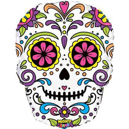 The Original Party Bag Company - Sugar Skull Balloon - 35183P- The Original Party Bag Company