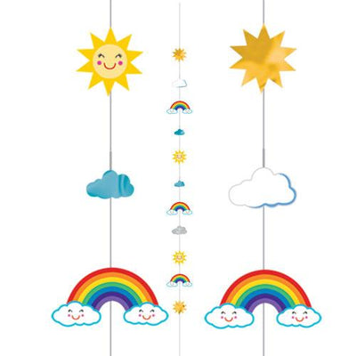 The Original Party Bag Company - Sun, Rainbow & Clouds Balloon Tail - 110479- The Original Party Bag Company