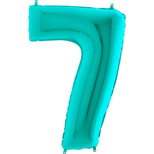 The Original Party Bag Company - Tiffany Blue Giant Number Balloons - tiff7- The Original Party Bag Company