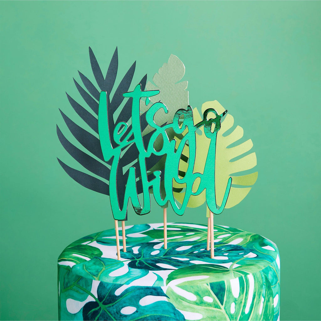 The Original Party Bag Company - Tropical Cake Topper Set - HBTH102- The Original Party Bag Company