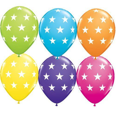 The Original Party Bag Company - Tropical Star Print Balloons (Pk12) - TF18077- The Original Party Bag Company