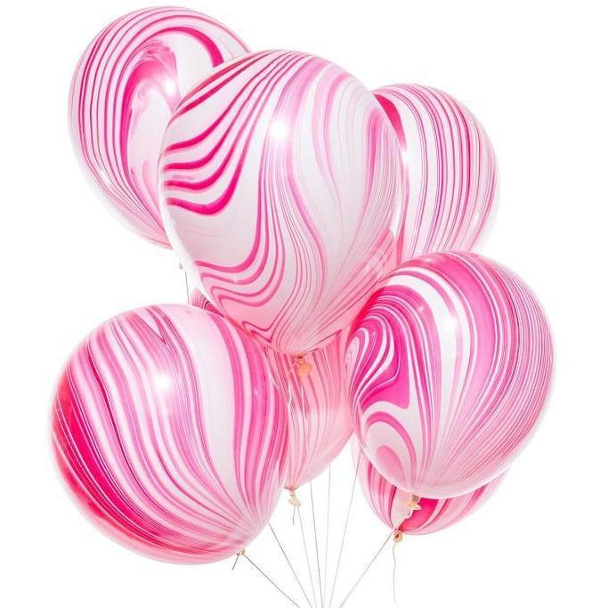 The Original Party Bag Company - Unicorn Marble Balloons (Pk5) - 39920- The Original Party Bag Company