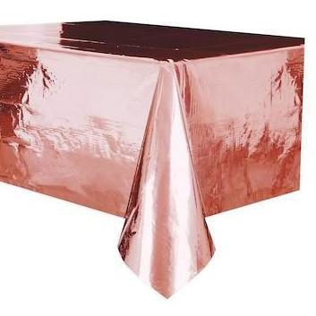 The Original Party Bag Company - Value Foil Rose Gold Tablecover - 53473- The Original Party Bag Company