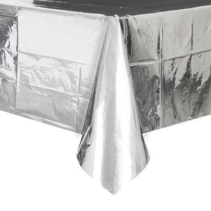 The Original Party Bag Company - Value Foil Silver Party Tablecover - cw298371- The Original Party Bag Company