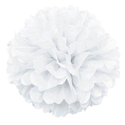 The Original Party Bag Company - White Pom Pom - CR64277- The Original Party Bag Company