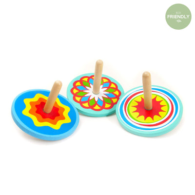 The Original Party Bag Company - Wooden Spinning Top - 38443- The Original Party Bag Company