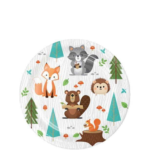 The Original Party Bag Company - Woodland Animals Party Paper Plates (pk8) - wowaplat2- The Original Party Bag Company