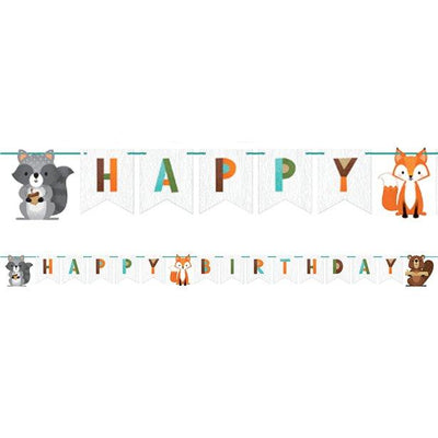 The Original Party Bag Company - Woodland Animals Ribbon Banner - wowabann- The Original Party Bag Company
