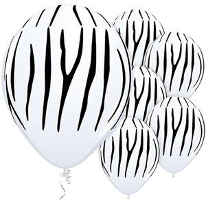 The Original Party Bag Company - Zebra Stripes Balloons (Pk5) - BALL956- The Original Party Bag Company