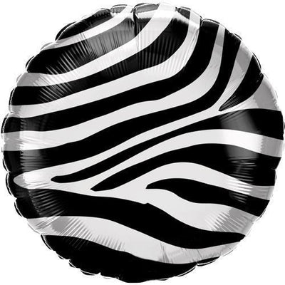 The Original Party Bag Company - Zebra Stripes Foil Balloon - - The Original Party Bag Company