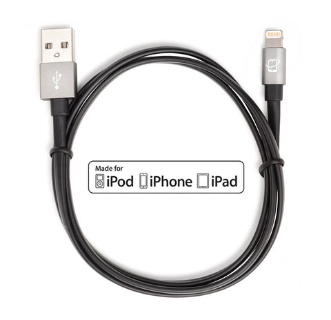 2-Pack of Apple MFI Certified CreatePros Lightning to USB Cables - Black / Space Gray (0.2m/1m) - CreatePros, LLC - 2