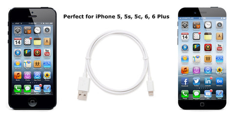 Apple Certified Lightning to USB 2.0 Data Sync and Charge Cable 1m Length (White) - CreatePros, LLC - 4