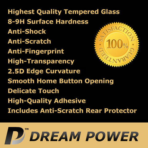 Dream Power iPhone SE / 5S / 5 Premium 2.5D Tempered Glass Screen Protector with 9H Hardness (0.2mm) - CreatePros, LLC - 4
