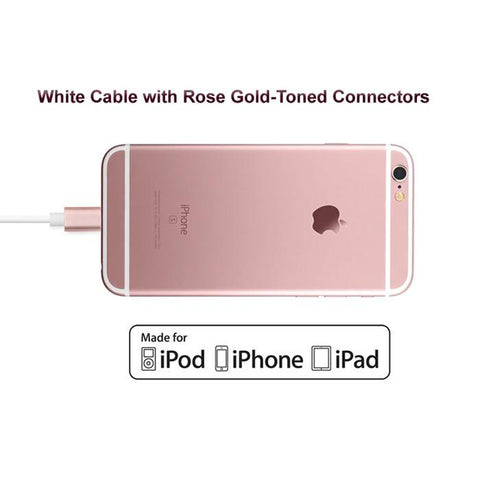 Apple Certified Lightning to USB Sync/Charge Cable - 7.5 inches (Rose Gold) - CreatePros, LLC - 2
