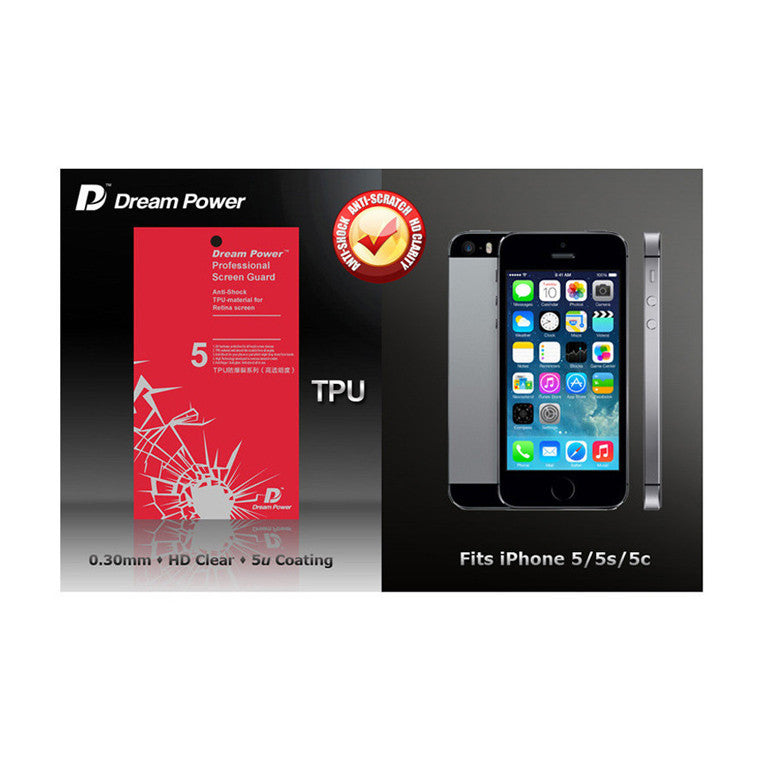 Dream Power TPU Anti-Shock Screen Protector for iPhone SE / 5S / 5 - CreatePros, LLC - 1