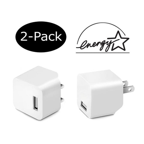2-Pack of Premium 2.4A Wall Charger with Foldable Plug for iPad, iPhone, Galaxy, HTC, Nexus, and other devices - CreatePros, LLC - 1
