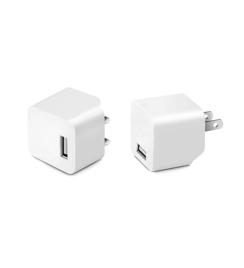 2 Pack of Premium 2.4A Wall Charger with Foldable Plug for iPad, iPhone, Galaxy, and other Devices