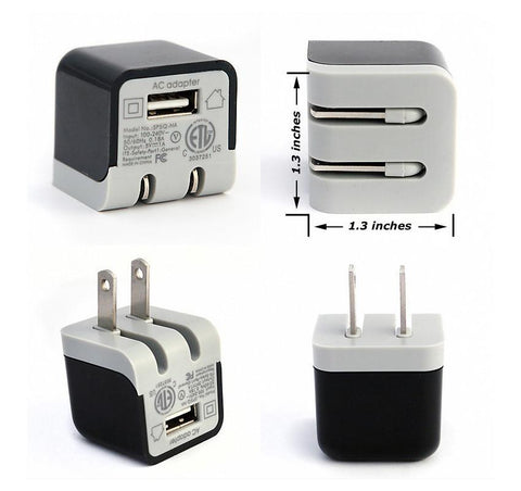 Ultra-Compact Home and Travel Wall Charger with 5 Watt/1 Amp USB Port - CreatePros, LLC - 1