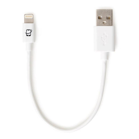 Short Apple Certified Lightning to USB Cable 7.5 Inch - (White)