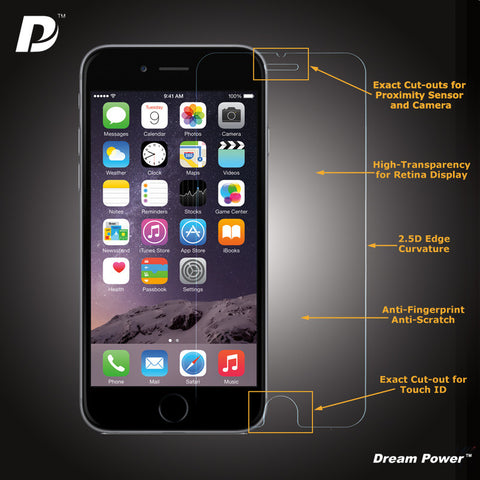 Dream Power iPhone 6, 6 Plus Premium 2.5D Tempered Glass Screen Protector with 9H Hardness - CreatePros, LLC - 2