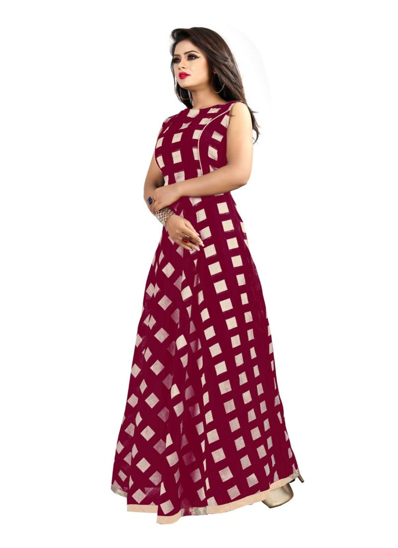 Brown Color American Crepe Kurti