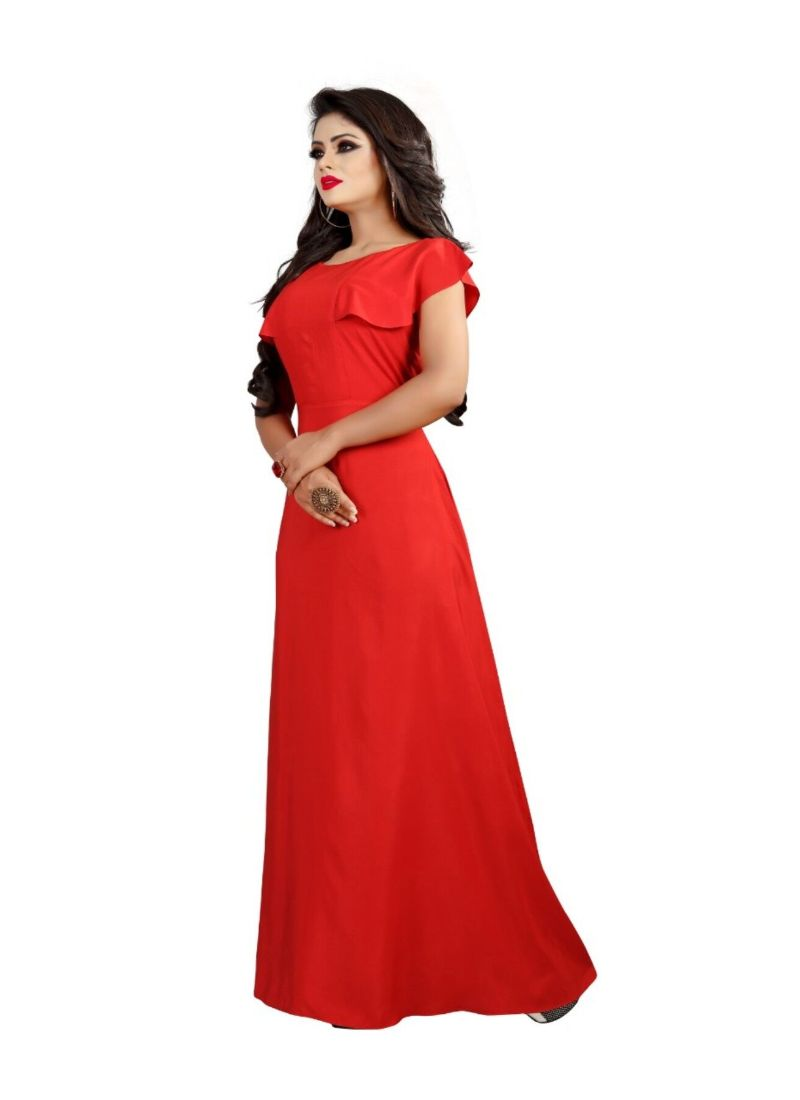 Red Color American Crepe Kurti