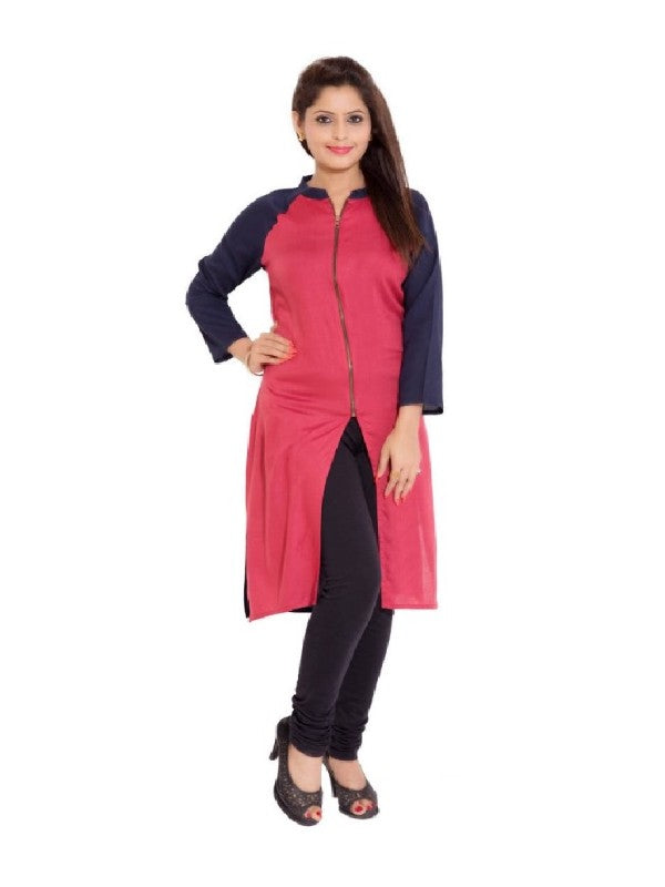Women's Kurti - Round Neck - Polyster Material
