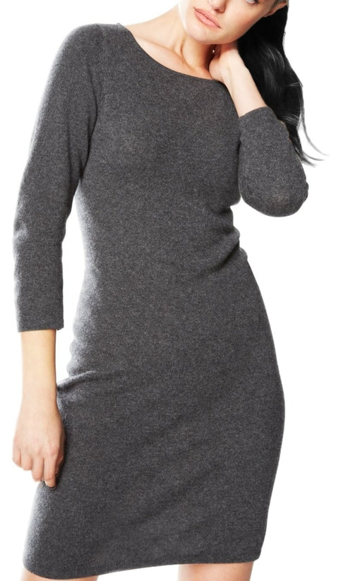 Peach Couture Women's Warm Cashmere Wool Bodycon Sweater Dress