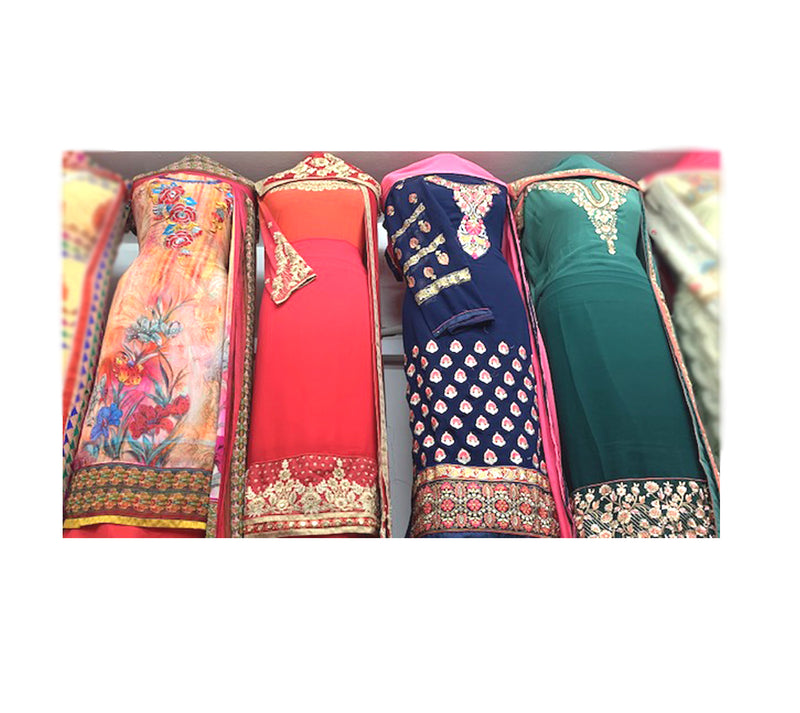 American Crepe Embroidered Suits, Plain Bottom with Classy Dupatta
