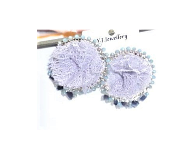 Beautiful & Trendy Studs with Net & Crystals