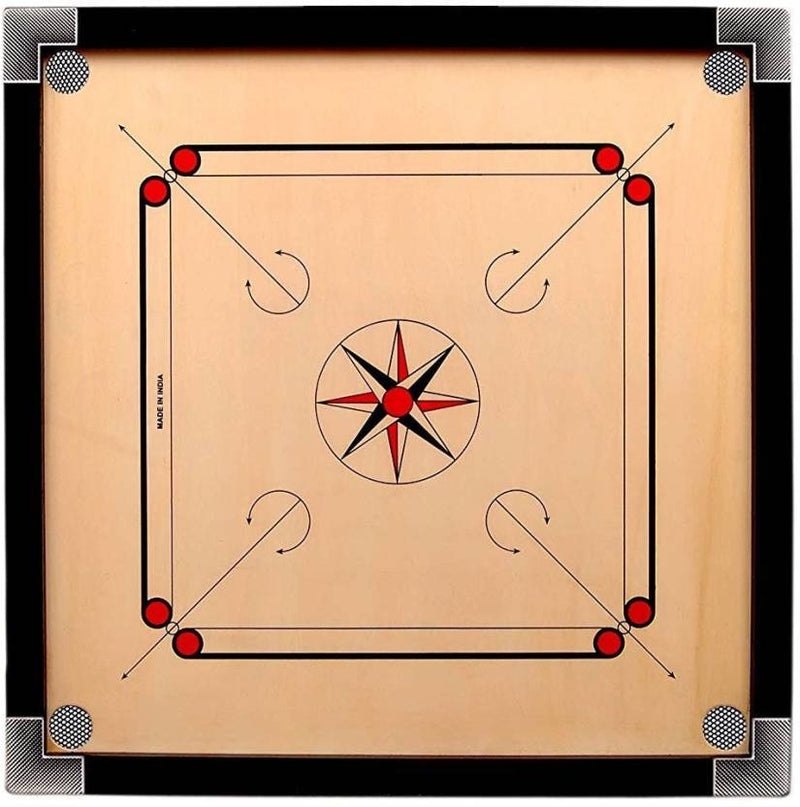 Indian Wood Carrom Board Free Coins Free Striker 32""