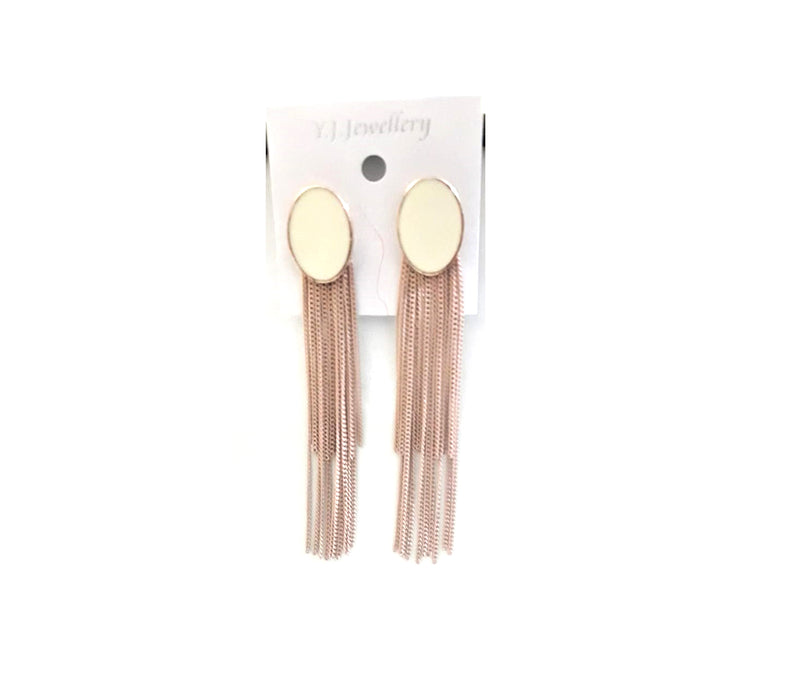 Classy Metallic Dangler with Pastel Color Studs