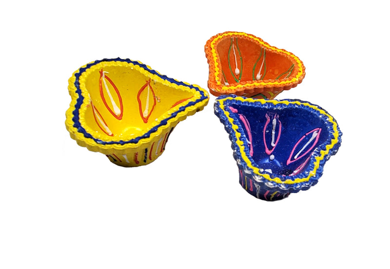 Handmade colorful Diyas (Set of 4)