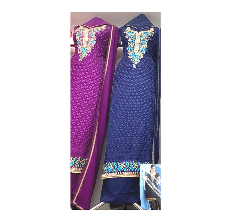 Embroidered Shirt with Unique Necklace style with Stylish Dupatta