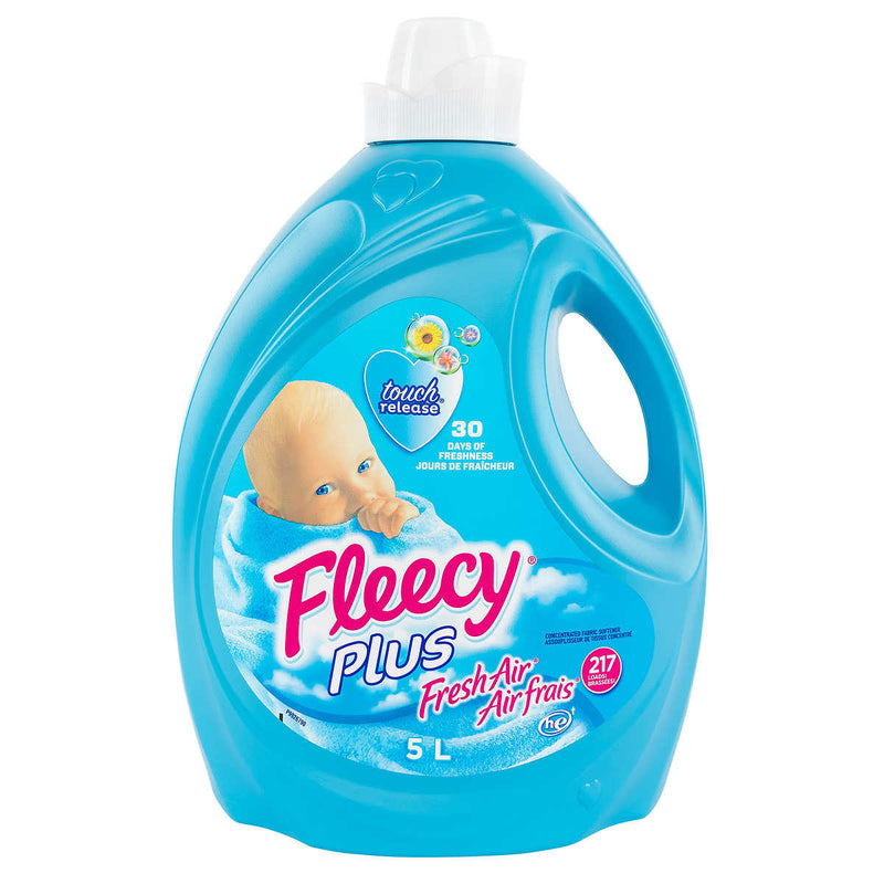 Fleecy Plus Fabric Softener, 5 L