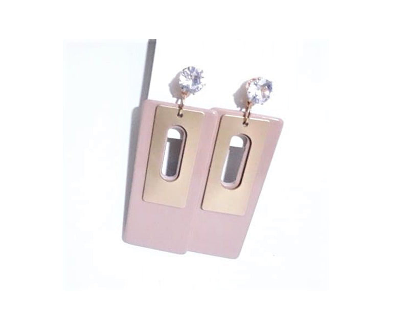 Glamorous & Trendy Shrink Plastic Casual earrings with Rhinestone stud