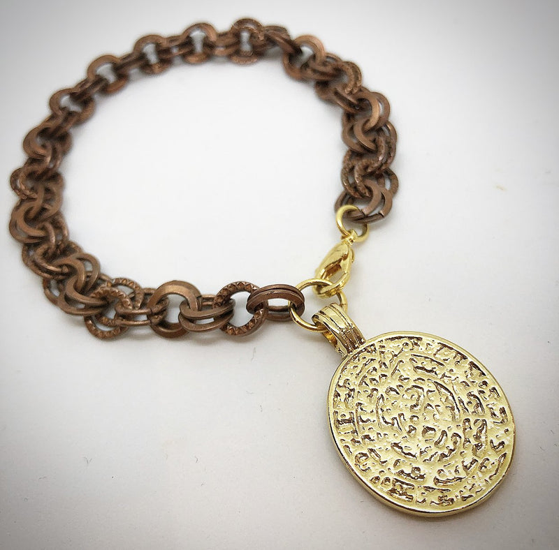 Sacred Coin Bracelet in Gold