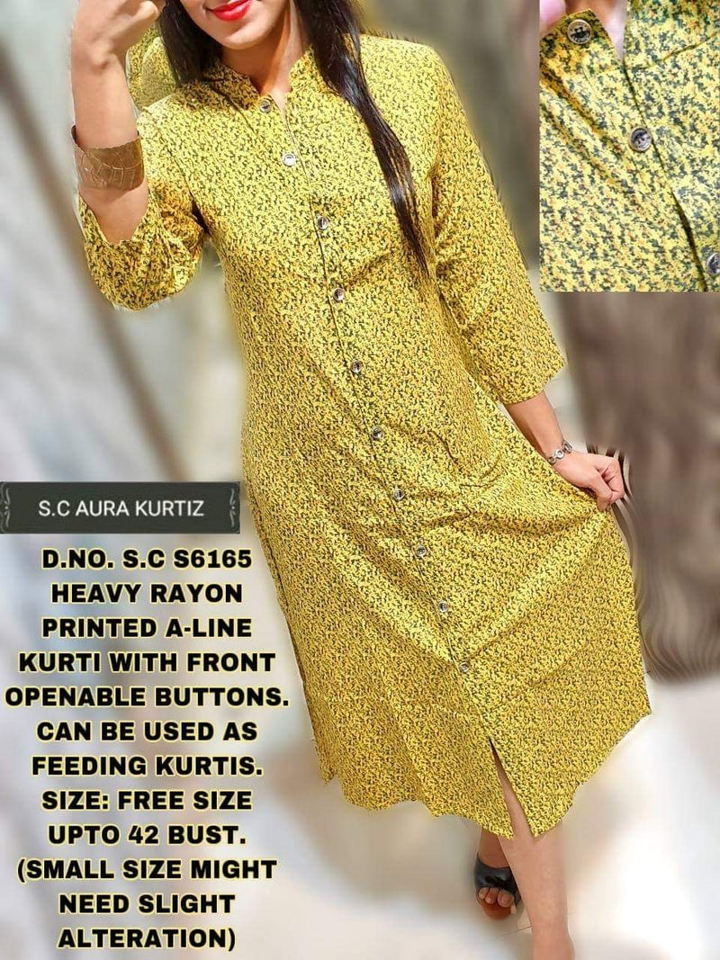 Kurti with front Openable Buttons