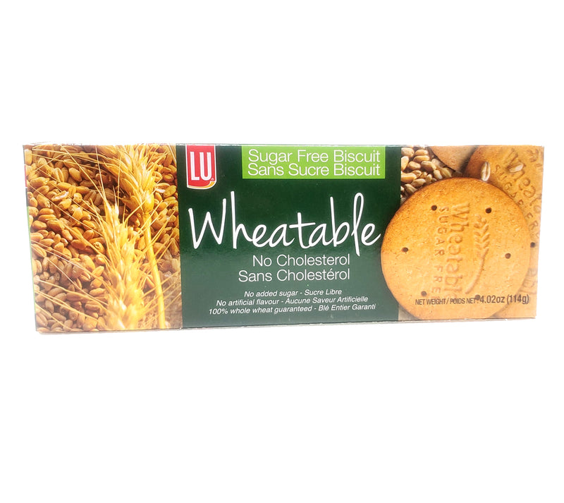 LU Sugar Free Wheatable Biscuits, No Cholesterol