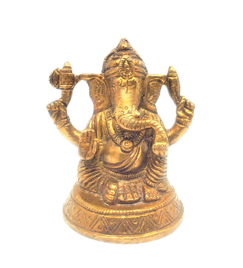 Lord Ganesha Brass Idol 3.5