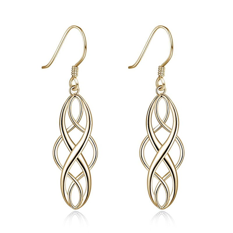 Inception Intertwined Drop Earring in Sterling Silver